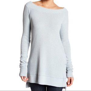 🆕 Free People Kate Blue Thermal Tunic